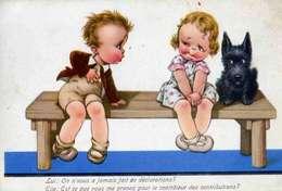 ANIMAUX   L 9  /   CHIENS   /  DOG    CPA  9 X 14 - Honden