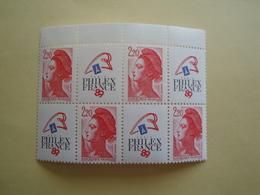 1987 France  Yv 2461 X 4 ** MNH -  Philexfrance 89 Cote Bloc De 4 SG 2761 - France
