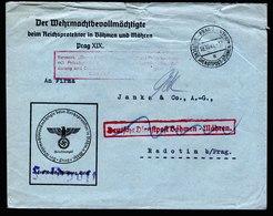 A6080) Böhmen & Mähren Feldpostbrief Wehrmachtbevollmächtigte B&M Prag 18.10.41 - Böhmen Und Mähren