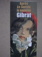 """GIBRAT - DOS DE PRESENTOIR EN CARTON """"LE VOL DU CORBEAU"""" - DUPUIS - Objets Publicitaires"""