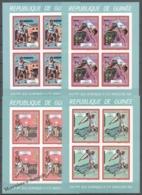 Guinea Republique 1987 Yvert 853-56, Barcelona Olympic Games, Sheetlets Green Margin - Imperforated - MNH - Guinée (1958-...)