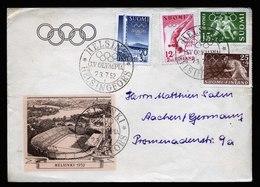 A6082) Olympia 1952 Helsinki Brief 23.07.52 N. Aachen / Germany - Sommer 1952: Helsinki