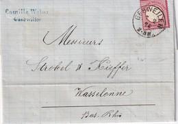 ALSACE-LORRAINE 1874 LETTRE DE GEBWEILER POUR WASSELONNE - Marcofilia (sobres)