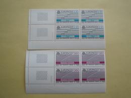 1988 France  Yv 2531/2 X 4 ** MNH -  Europa  Michel 2667/8 Scott 2109/10 SG 2828/9 Transport - France