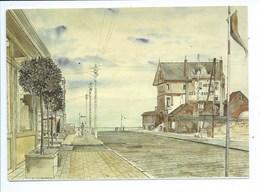 """Koksijde Coxyde Peinture Aquarelle Paul Delvaux """"Hôtel Des Dunes, St. Idesbald"""", 1948 - Koksijde"""