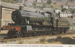 1960s To 1980s BRITISH RAILWAY /  G.W.R 7827 , LYDHAM MANOR , Sellotape Marks On Back Of Card. - Eisenbahnen