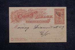 CONGO BELGE - Entier Postal Commerciale ( Repiquage Au Dos ) De Elisabethville En 1912 En Port Local - L 27889 - Entiers Postaux