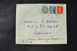 France - 1928 : Blanc 111  - Semeuse 195 - Caisse D'amortissement 246 Sur Lettre Pour Littleton - U.S.A. - 1921-1960: Modern Period