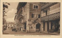 CARTE POSTALE ORIGINALE ANCIENNE : CAMBO LES BAINS LE BOULEVARD DES TERRASSES  ANIMEE PYRENEES ATLANTIQUES (64) - Moulins