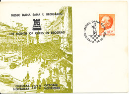 Yugoslavia Cover CHESS The Month Of Chess In Beograd With Cachet 20-10-1972 - Chess