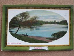 The Lake Sefton Park, Liverpool, Lancashire - Posted 1909 - Liverpool