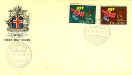 ISLANDA - 1961 - EUROPA FDC. - FDC