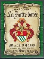Etiquette De Vin Du Canton De Vaud  * Chardonne - La Botte Dorée  * - Etiquettes