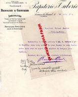 70- FONTAINE LES LUXEUIL- RARE LETTRE BARBIER & GUNTHER-PAPETERIE & TUBERIE-TUBES PAPIER COMPRIME-1914 - Imprimerie & Papeterie