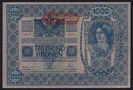 Österreich - Austria 1000 Kronen Banknote 1919 (1902) Pick 60  VF (20140 - Oesterreich
