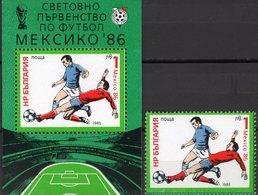 Mexiko Fußball 1986 Bulgaria 3389+Block 155 ** 5€ Fußballer Spielszene Hojita Bloc M/s Bloque Sport Sheet Bf Soccer - Blocs-feuillets