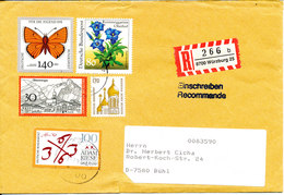Germany Registered Cover With More Topic Stamps 2-7-1992 - [7] Federal Republic