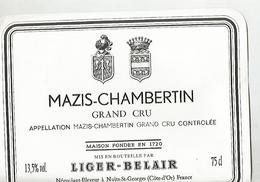 Etiquette Mazis Chambertin Ligier Belair - Bourgogne