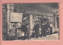 RARE OLD  POSTCARD -    DELTIOLOGY - POSTCARD SHOP - EMPORIO ITALIANO - CARTOLINE ILLUSTRATE D'ITALIA - Cartes Postales