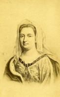 France Madame De Maintenon Portrait Ancienne CDV Photo Neurdein 1880 - Photos