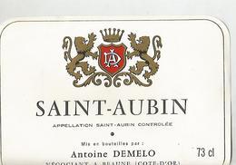 Etiquette St Aubin Antoine Demelo - Bourgogne