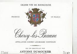 Etiquette Chorey Les Baume Antoine Dumourier - Bourgogne