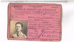 PERMIS DE CONDUIRE LES AUTOMOBILES PARIS 1929   LOTE57 - Documents Historiques
