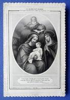 IMAGE PIEUSE DOUBLE...RELIGIEUSE ......ED. PONTIFICAL PANNIER...LA SAINTE FAMILLE...LITANIES DE SAINT JOSEPH - Imágenes Religiosas