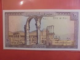 LIBAN 10 LIVRES 1964-86 PEU CIRCULER/NEUF - Liban