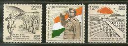 India 2018 First Flag Hoisting At Port Blair Subhas Chandra Bose 3v Set MNH - Unused Stamps