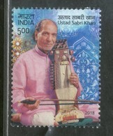 India 2018 Ustad Sabri Khan Music Musician Musical Instrument 1v MNH - India