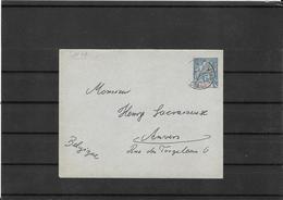 Congo Francais 1895 , Postal Stat. To Belgium (Ref 1036) - French Congo (1891-1960)