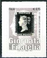 """ITALIA / ITALY 2015** - Giornata Della Filatelia - """"Penny Black"""" - 1 Val. MNH Autoadesivi Come Da Scansione. - Giornata Del Francobollo"""