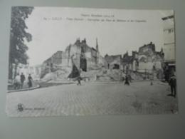 NORD LILLE PLACE RICHEBE CARREFOUR DES RUES DE BETHUNE ET DES COQUELETS GUERRE MONDIALE 1914-18 - Lille
