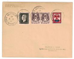 1947 - OBLITÉRATION Du 1er JOUR DU RATTACHEMENT De ST DALMAS DE TENDE À LA FRANCE 16-9-47 LETTRE (NON-FERMÉE) IMPRIMÉS - Marcophilie (Lettres)