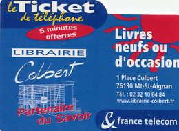 TICKET Téléphone  = Librairie Colbert - Frankrijk
