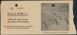 Ticket Gutschein Eintrittskarte 1 Runde Nürburgring + Fahrordnung Auto Rennsport - Tickets - Vouchers