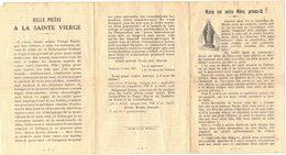 1927 MARIE EST NOTRE MERE PRIONS LA BELLE PRIERE A LA SAINTE VIERGE IMAGE PIEUSE HOLY CARD SANTINI HEILIG PRENTJE - Imágenes Religiosas