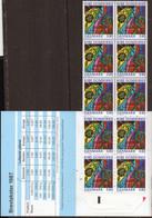 PIA  - DANIMARCA -  1987 : Carnet Di 38 Kr - Cattedrale Di Ribe - Opere Di Arte Decorativa - Vetrate  - (Yv C 895) - Vetri & Vetrate