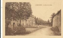 AM 971 / C P A     - CAMETOURS    (50)   LA RUE DE LA GARE - Autres Communes