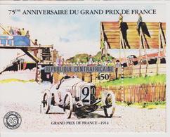CENTRAFRIQUE : BLOCS FEUILLETS 75 ème ANNIVERSAIRE DU GRAND PRIX DE FRANCE1914 - Automobilismo