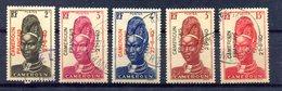 Cameroun - Yvert 208 à 211 + 213 - Oblitérés - Surcharge 27-8-40 - T 858 - Used Stamps