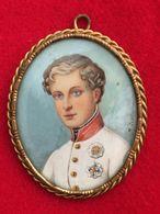 MINIATURA PORTRAIT  1821  NAPOLEONE II RE DI ROMA  INC. J. ICOLEY - FAVOLOSA - Incisioni