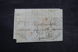 """FRANCE - Marque D'entrée """" Suisse Par Ferney """" En Rouge Sur Lettre Pour Lourmarin En 1836 , à étudier - L 27912 - Marques D'entrées"""