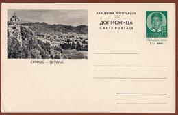 YUGOSLAVIA-MONTENEGRO, CETINJE, 3rd EDITION For DOMESTIC TRAFFIC ILLUSTRATED POSTAL CARD - Ganzsachen