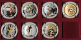 * Boisson , 7  Capsules De Champagne, Cinéma, Pin-up, Actrice  MARILYN  MONROE - Collections