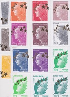 MARIANNE DE L'EUROPE : N°4662A à 4662Q. Cote 150€ - Neufs