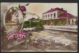 EEN GOEDEN DAG UIT HET KAMP VAN BEVERLOO * TREIN * STATION * 1925 * !! KREUK LINKS BOVEN !!! - Beringen
