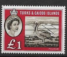 Turks & Caicos 1957/60 Birds, Pelicans - Pelícanos