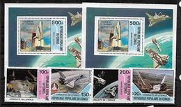 #C58# CONGO MICHEL 805/808, BL27+36 MNH**. SPACE. - Congo - Brazzaville